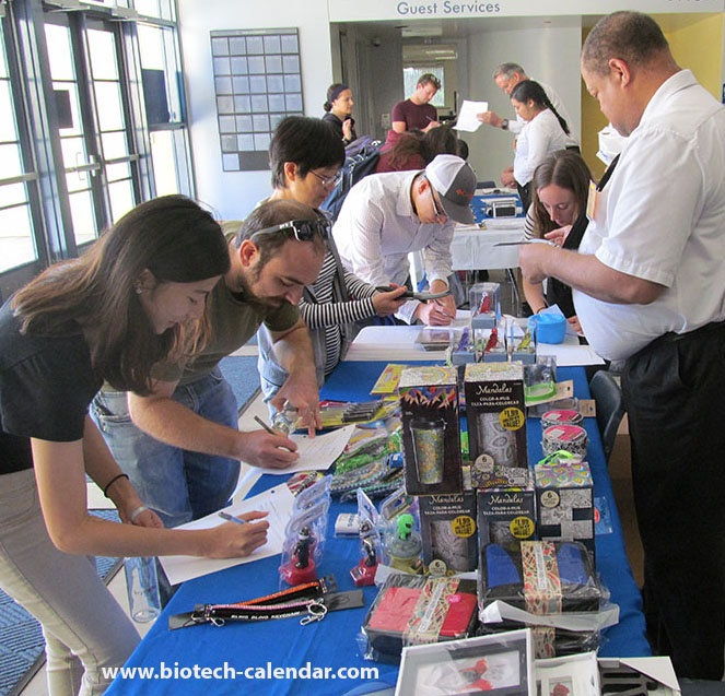 Lab suppliers meet with active life scientists at a past UC Irvine event.