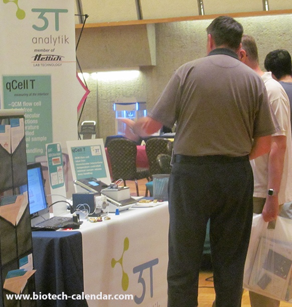 Life science researchers learn about new lab supplies at a past UMass BioResearch Product Faire Event.