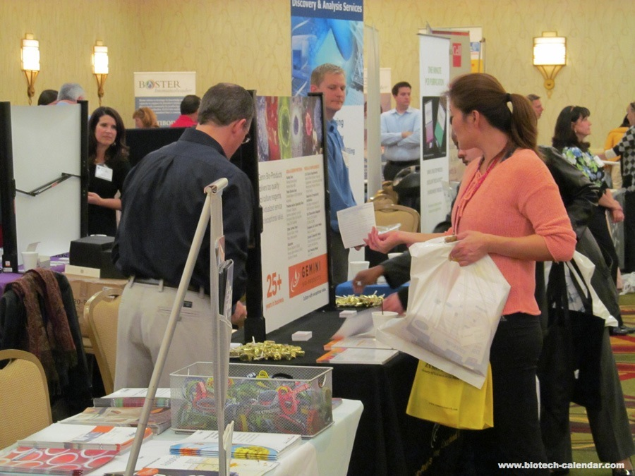 Researchers at a past BioResearch Product Faire™ Event in Texas learn about new products available for use in their labs.